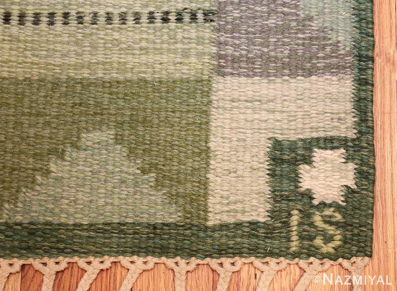 vintage scandinavian kilim by ingegerd silow 49469 signature Nazmiyal