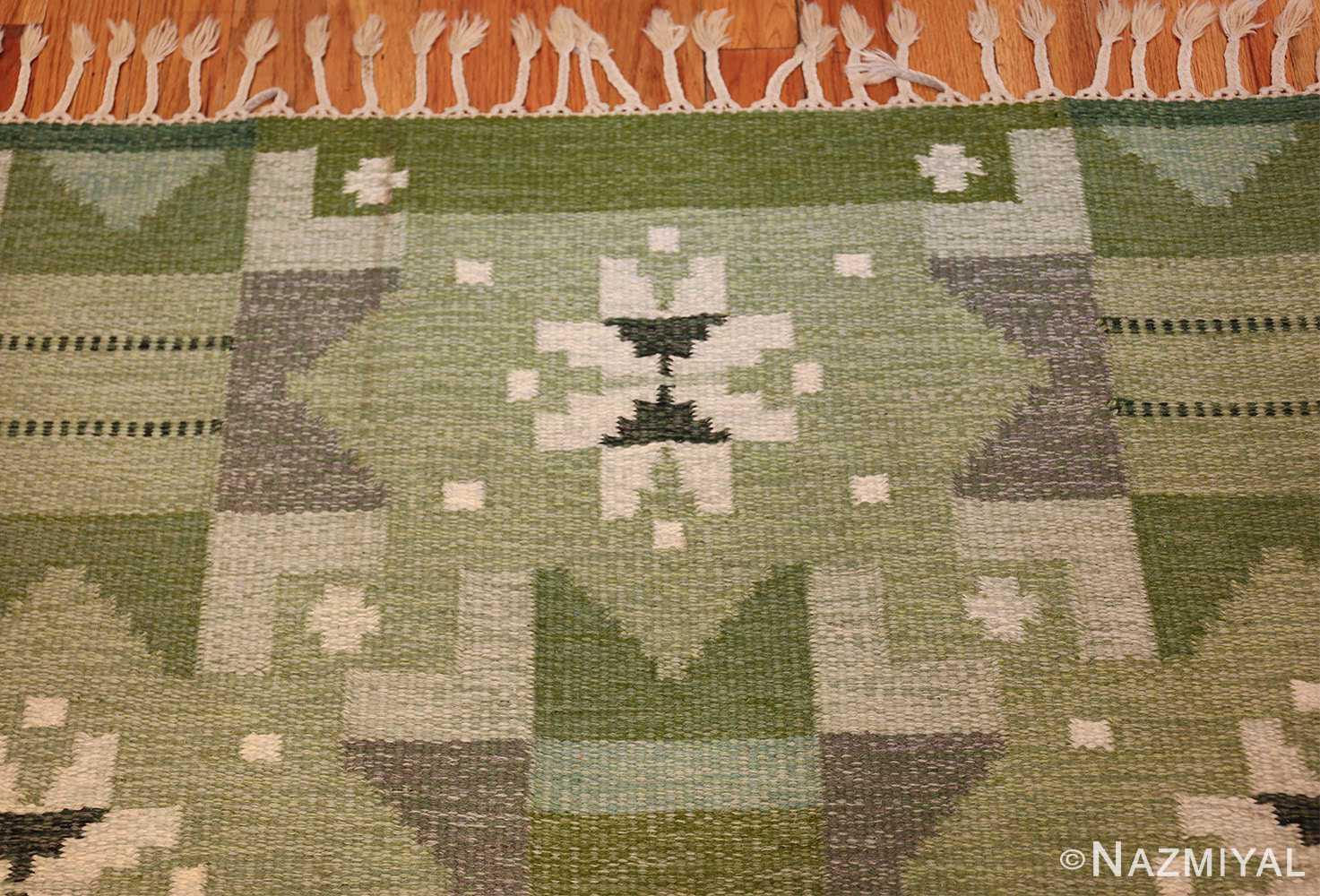 vintage scandinavian kilim by ingegerd silow 49469 top Nazmiyal