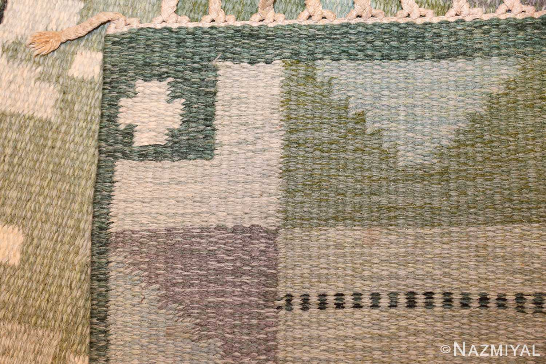 vintage scandinavian kilim by ingegerd silow 49469 weave Nazmiyal