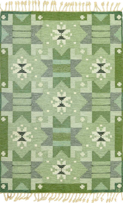 vintage scandinavian kilim by ingegerd silow 49469 by Nazmiyal