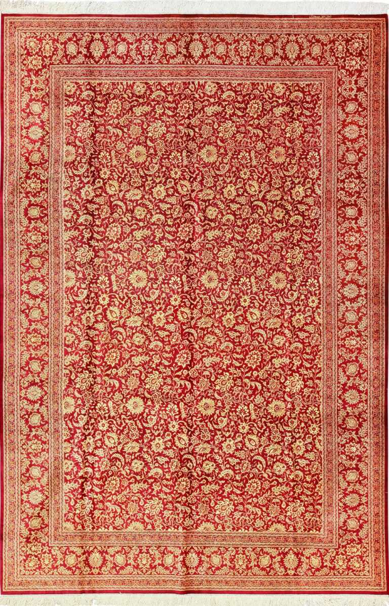 fine room size silk qum persian rug 49533 Nazmiyal