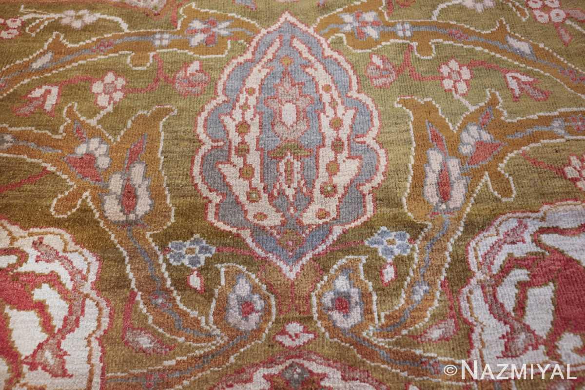 antique animal motif ziegler sultanabad persian rug 49532 blue Nazmiyal