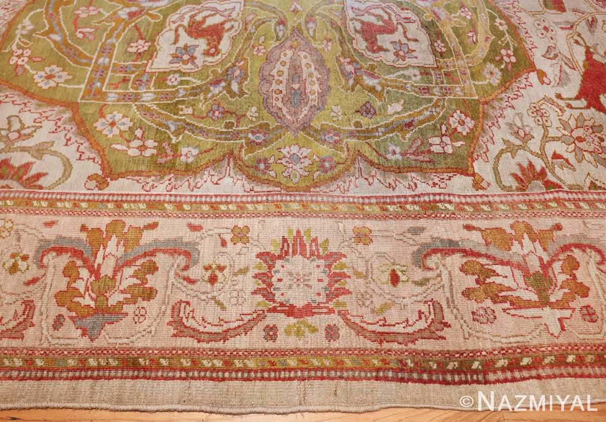 antique animal motif ziegler sultanabad persian rug 49532 border Nazmiyal