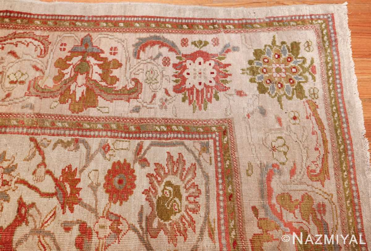 antique animal motif ziegler sultanabad persian rug 49532 corner Nazmiyal
