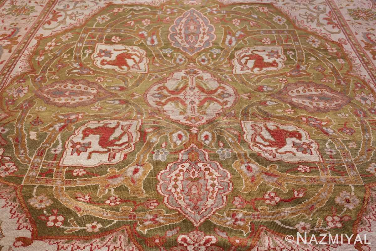 antique animal motif ziegler sultanabad persian rug 49532 medallion Nazmiyal