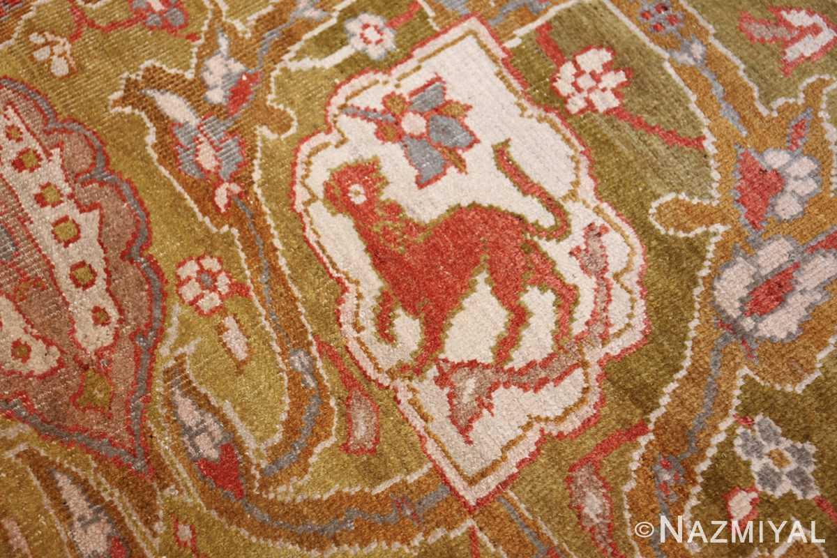 antique animal motif ziegler sultanabad persian rug 49532 tiger Nazmiyal