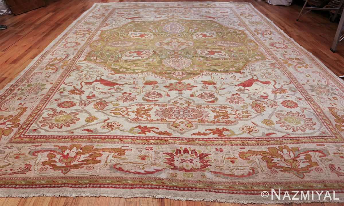 antique animal motif ziegler sultanabad persian rug 49532 whole Nazmiyal
