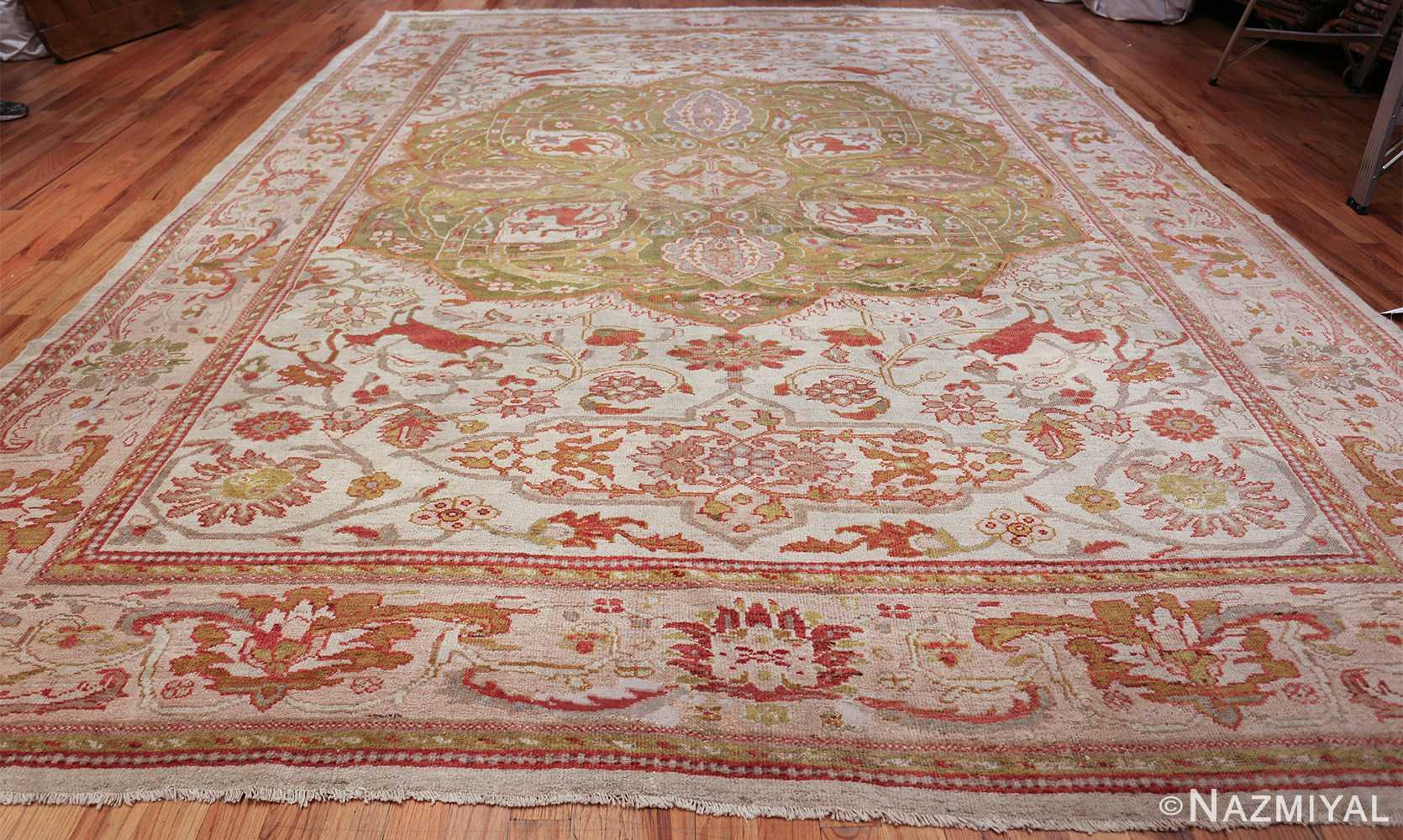 antique animal motif ziegler sultanabad persian rug 49532 whole Nazmiyal