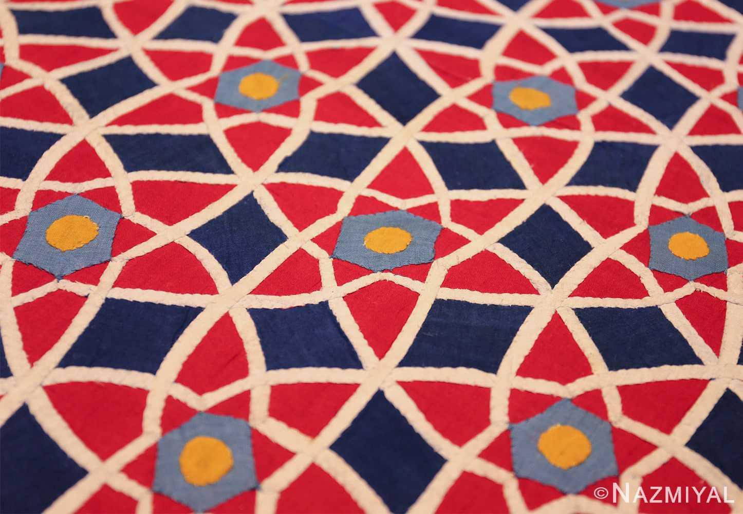 antique khayamiya tent panel egyptian textile 49512 circle Nazmiyal