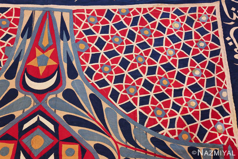 antique khayamiya tent panel egyptian textile 49512 corner Nazmiyal