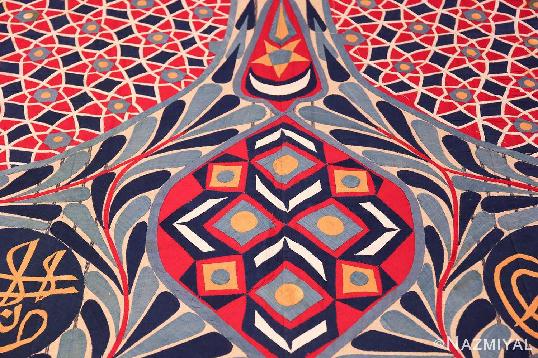 antique khayamiya tent panel egyptian textile 49512 crescent Nazmiyal
