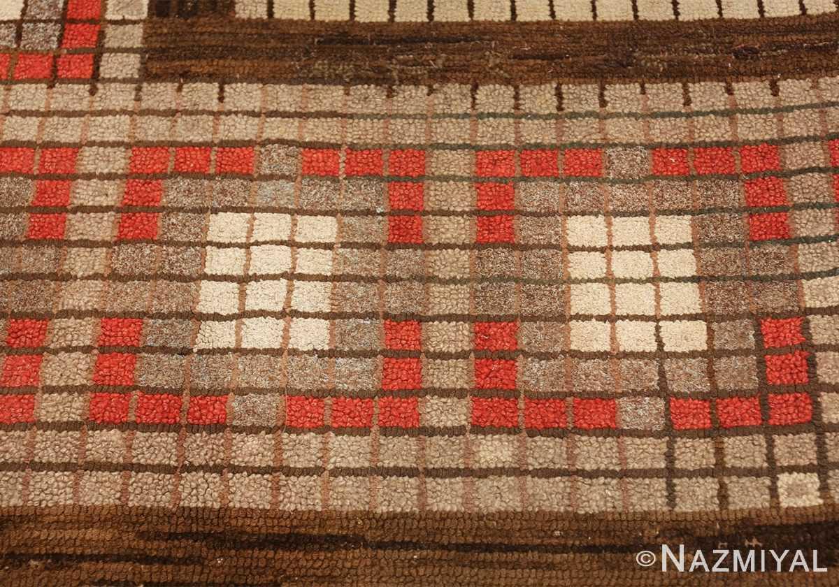antique mosaic design american hooked rug 49529 border Nazmiyal
