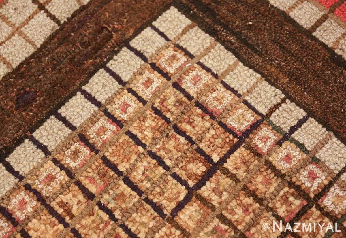 antique mosaic design american hooked rug 49529 lines Nazmiyal