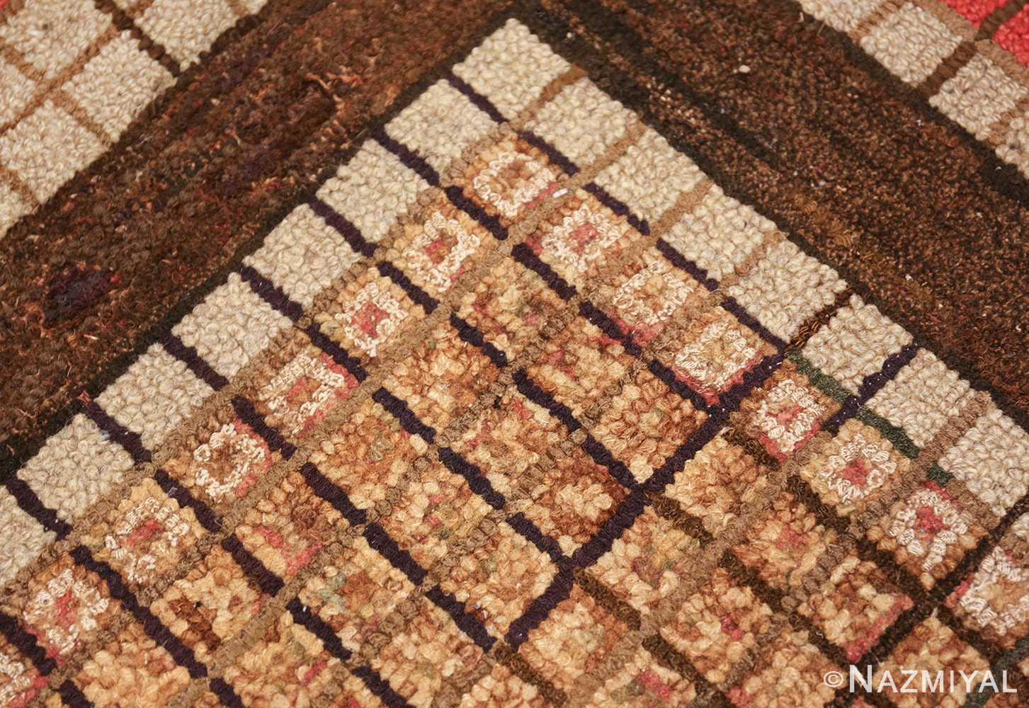 antique mosaic design american hooked rug 49529 lines Nazmiyal