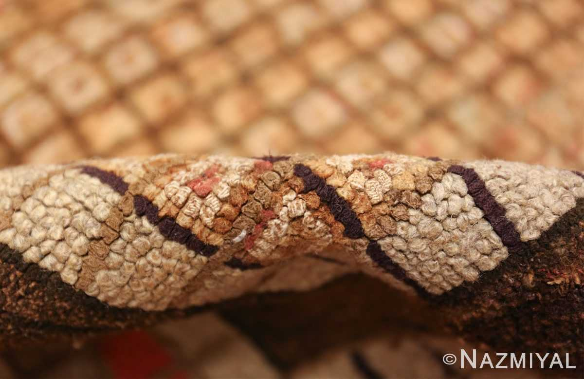 antique mosaic design american hooked rug 49529 pile Nazmiyal