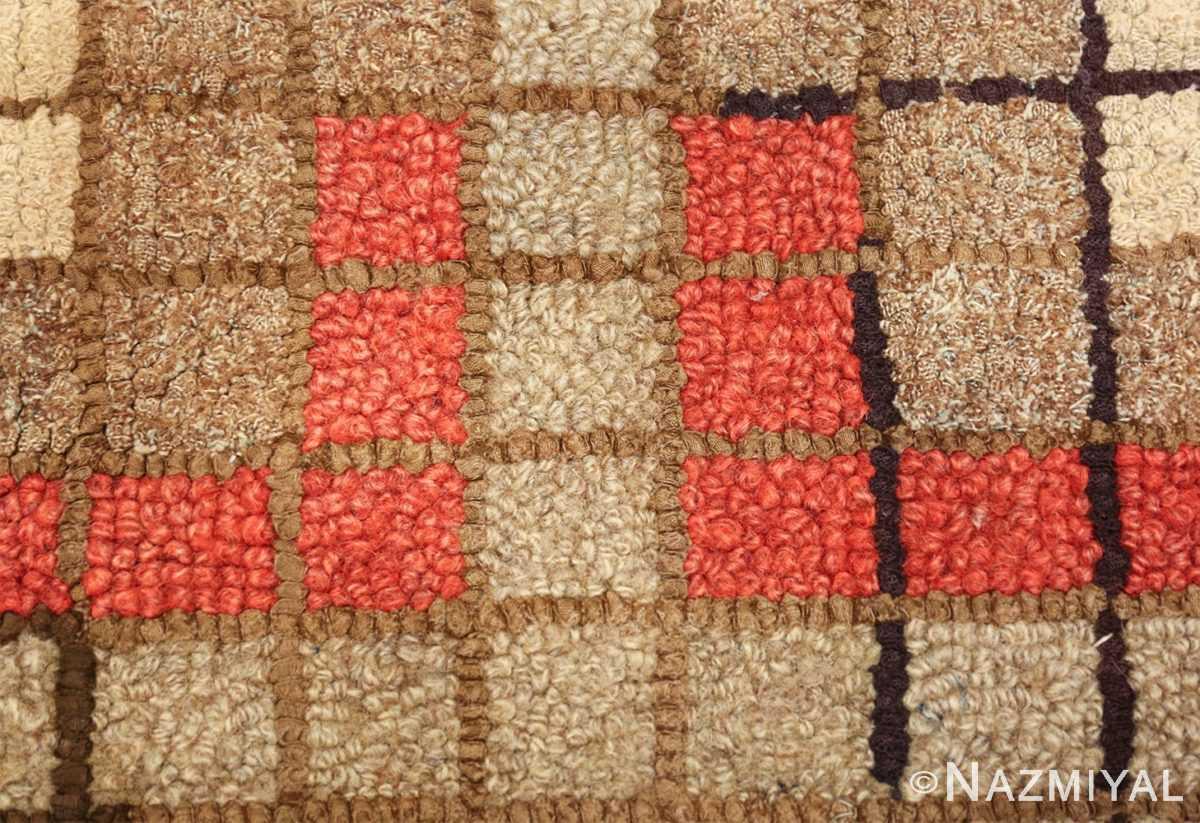 antique mosaic design american hooked rug 49529 rows Nazmiyal