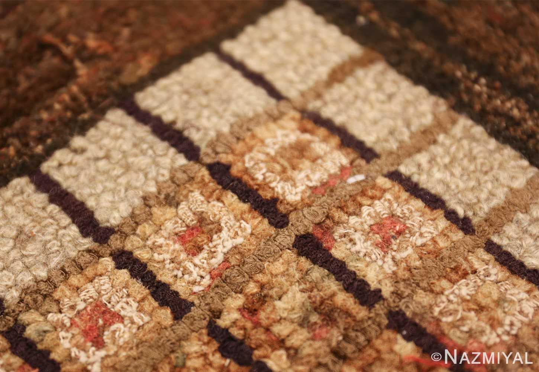 antique mosaic design american hooked rug 49529 tiny Nazmiyal