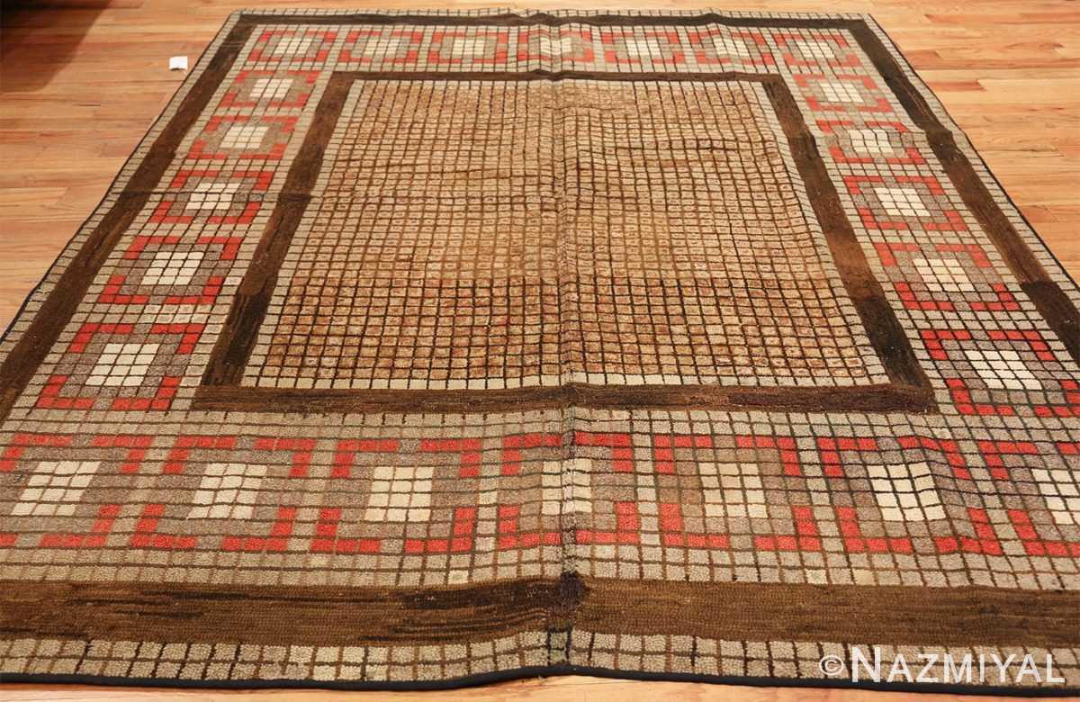 antique mosaic design american hooked rug 49529 whole Nazmiyal