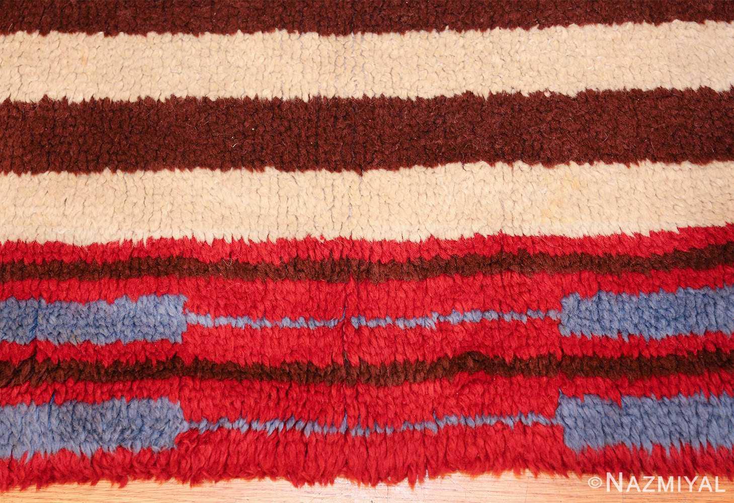 Geometric Navajo Design Vintage American Rug 49523