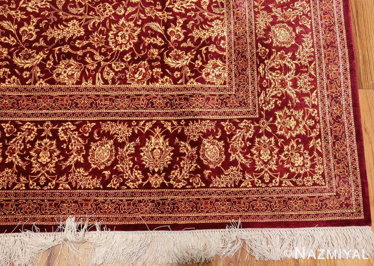 fine room size silk qum persian rug 49533 corner Nazmiyal