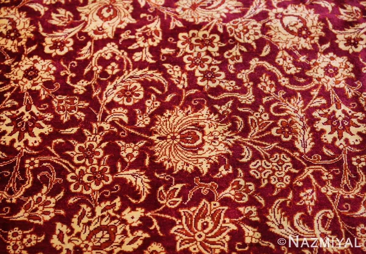 fine room size silk qum persian rug 49533 leaf Nazmiyal