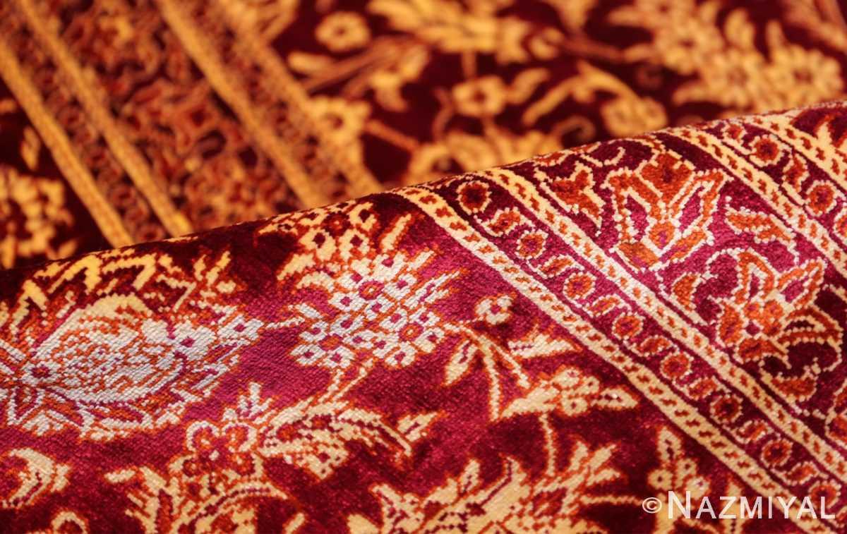 fine room size silk qum persian rug 49533 pile Nazmiyal