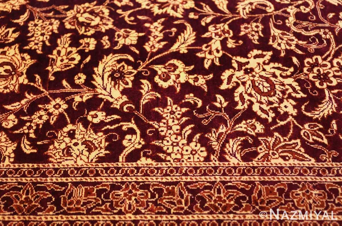 fine room size silk qum persian rug 49533 tiny Nazmiyal