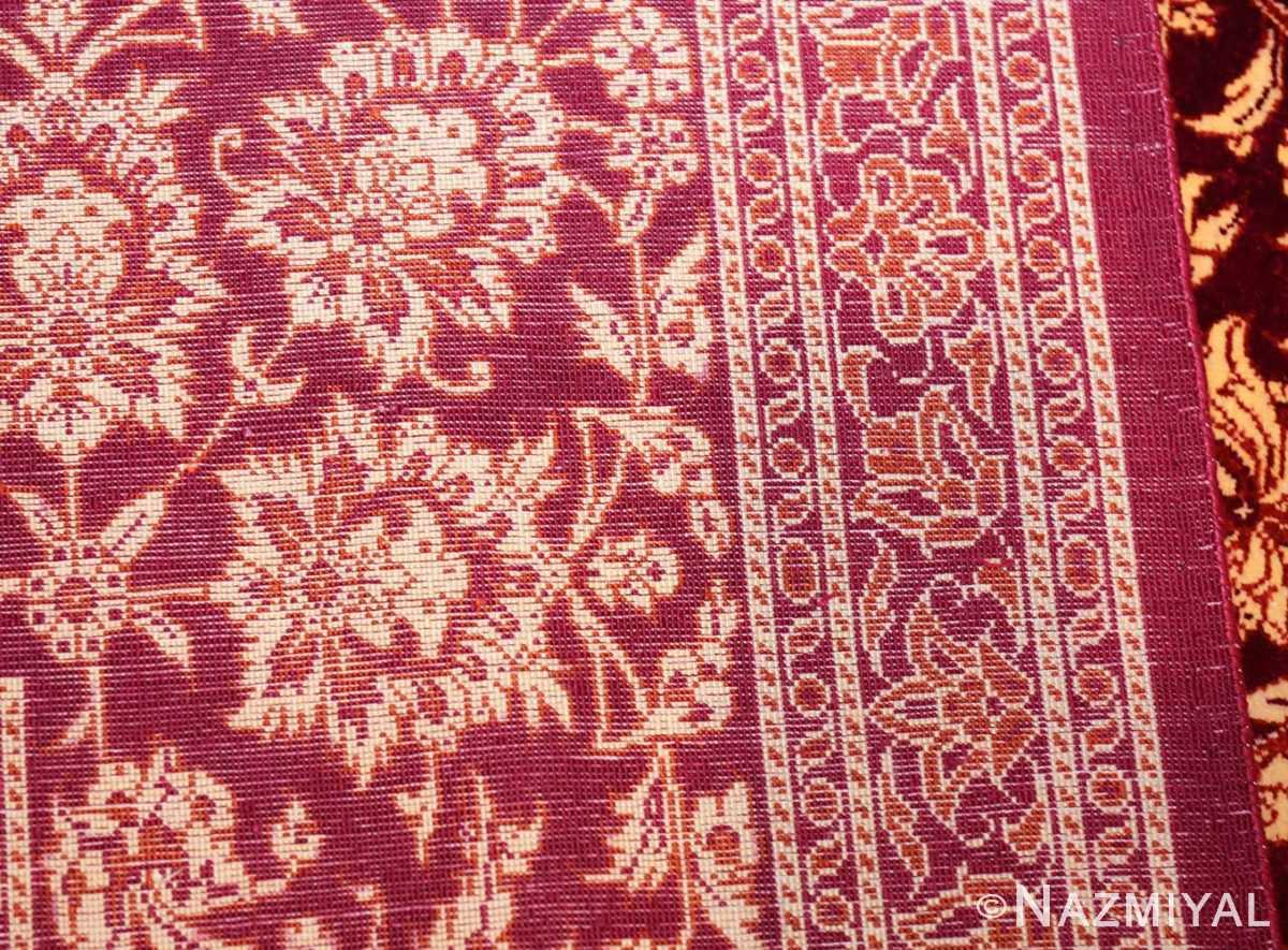 fine room size silk qum persian rug 49533 weave Nazmiyal