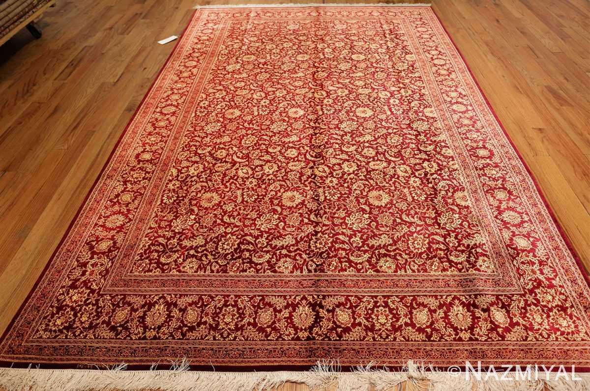 fine room size silk qum persian rug 49533 whole Nazmiyal