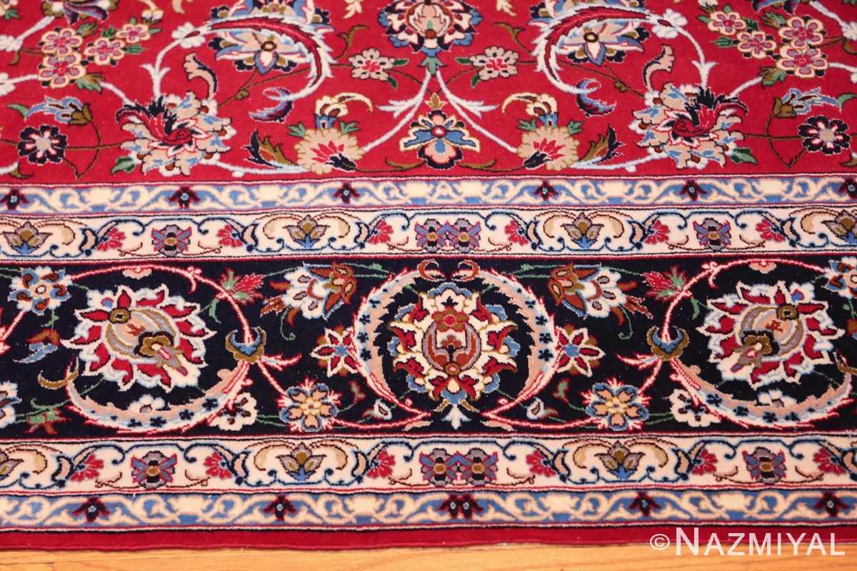 fine silk and wool isfahan persian rug 49535 border Nazmiyal