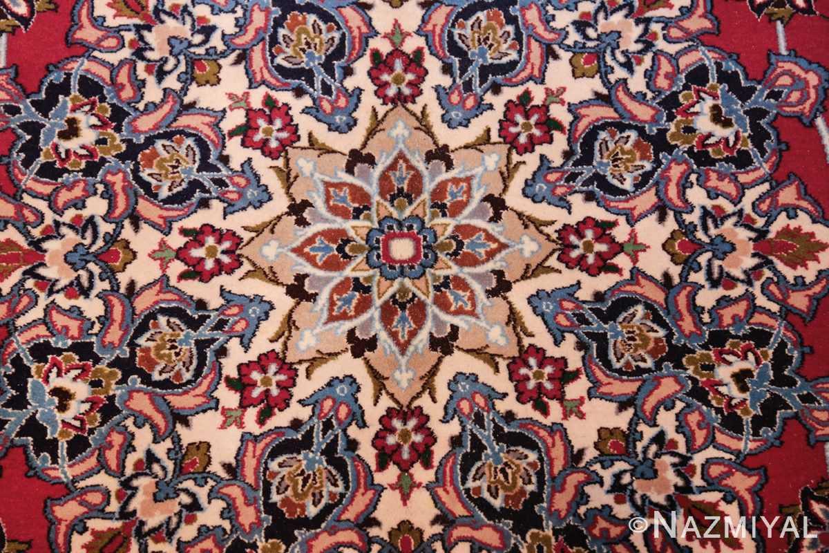 fine silk and wool isfahan persian rug 49535 center Nazmiyal