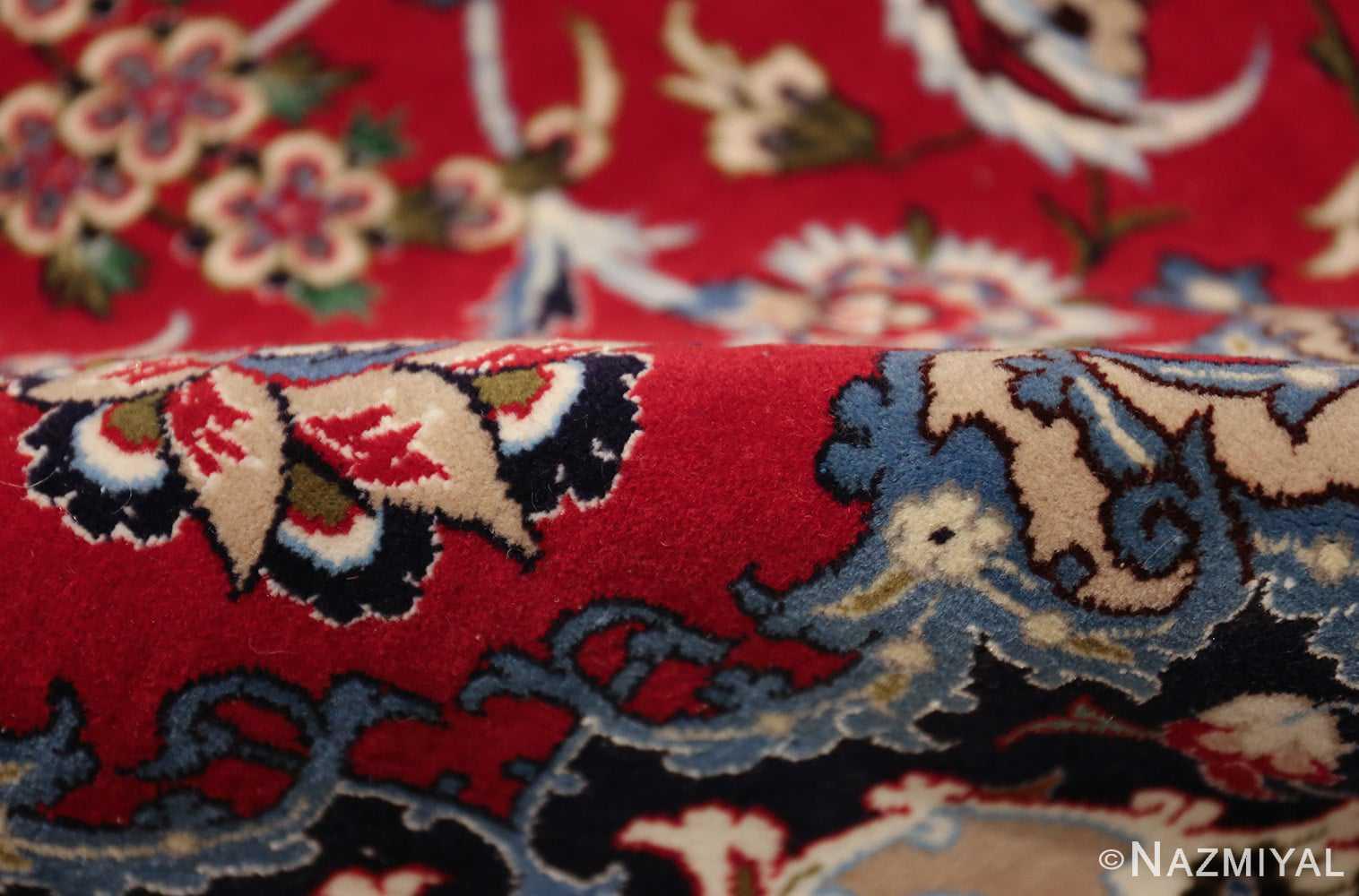 fine silk and wool isfahan persian rug 49535 pile Nazmiyal