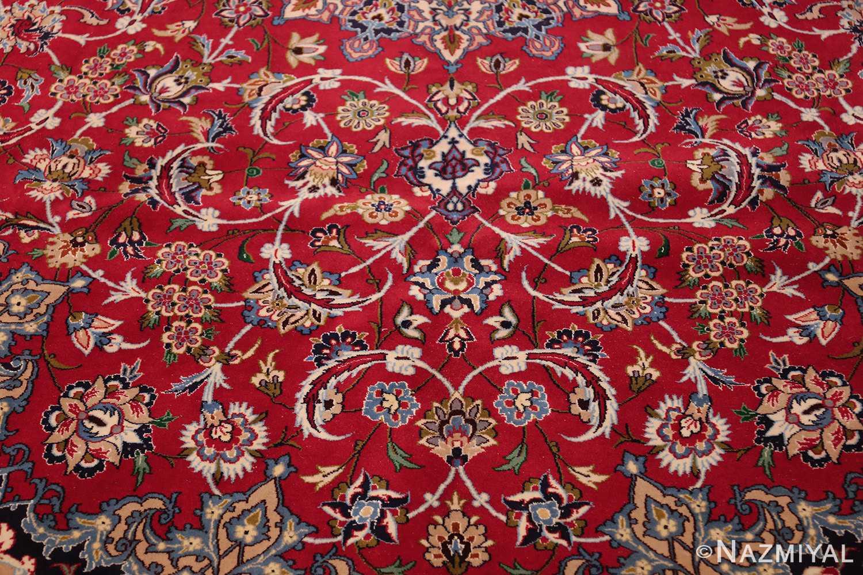 fine silk and wool isfahan persian rug 49535 scrolls Nazmiyal