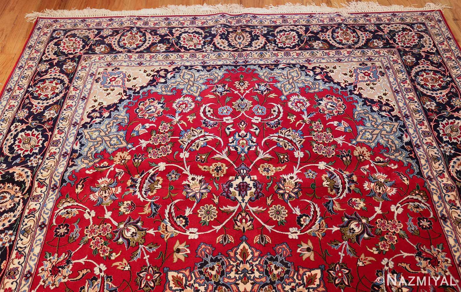 fine silk and wool isfahan persian rug 49535 top Nazmiyal