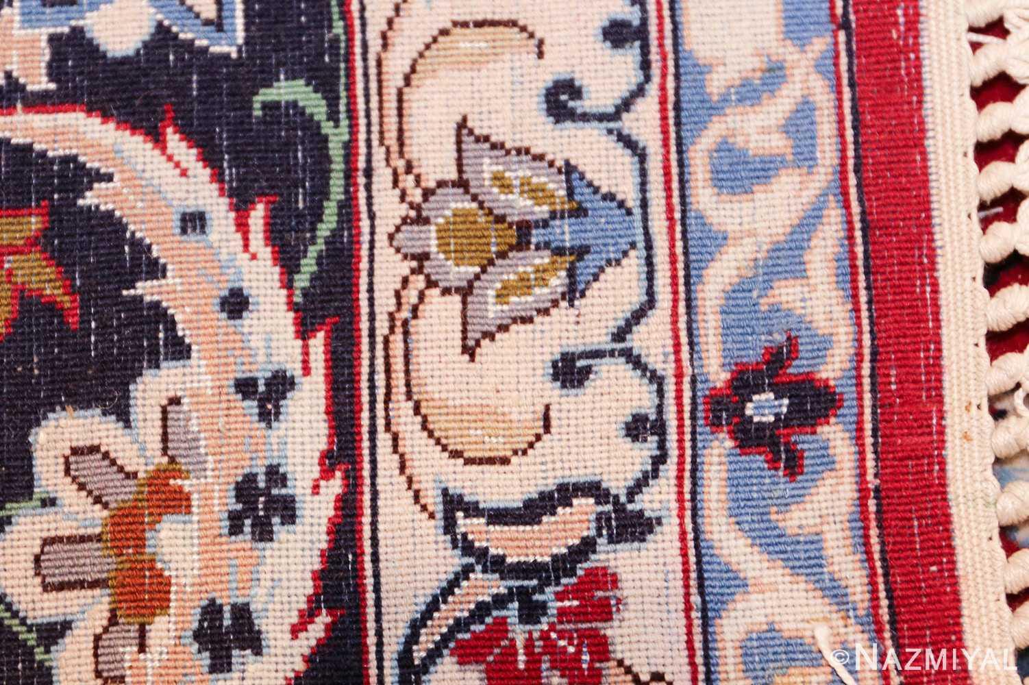 fine silk and wool isfahan persian rug 49535 weave Nazmiyal