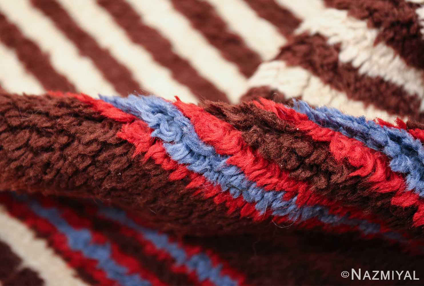 geometric vintage navajo design american rug 49522 pile Nazmiyal