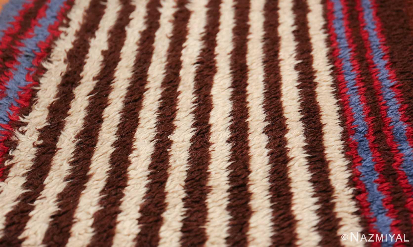 geometric vintage navajo design american rug 49522 white Nazmiyal