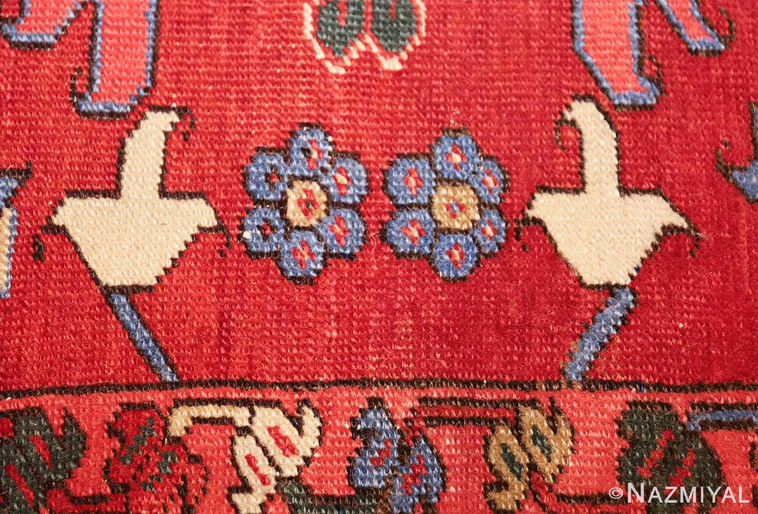 large antique heriz serapi persian rug 49518 blue tiny Nazmiyal