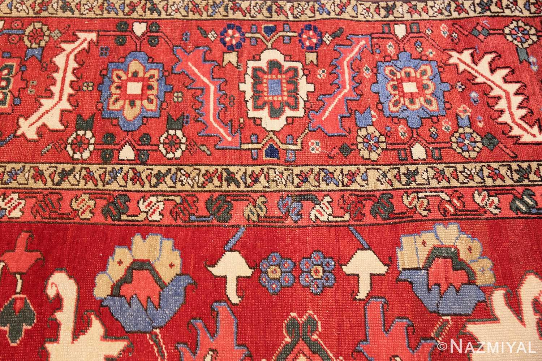 large antique heriz serapi persian rug 49518 closeup Nazmiyal