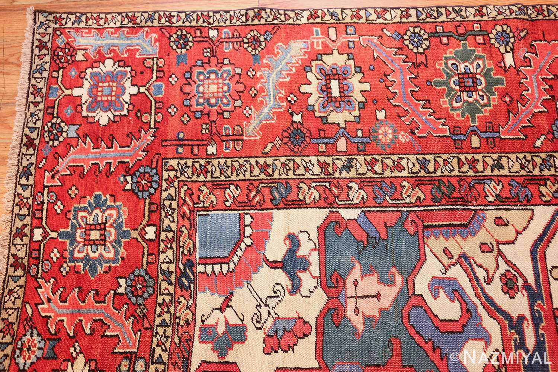 large antique heriz serapi persian rug 49518 corner Nazmiyal