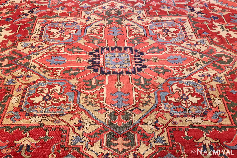 large antique heriz serapi persian rug 49518 medallion Nazmiyal