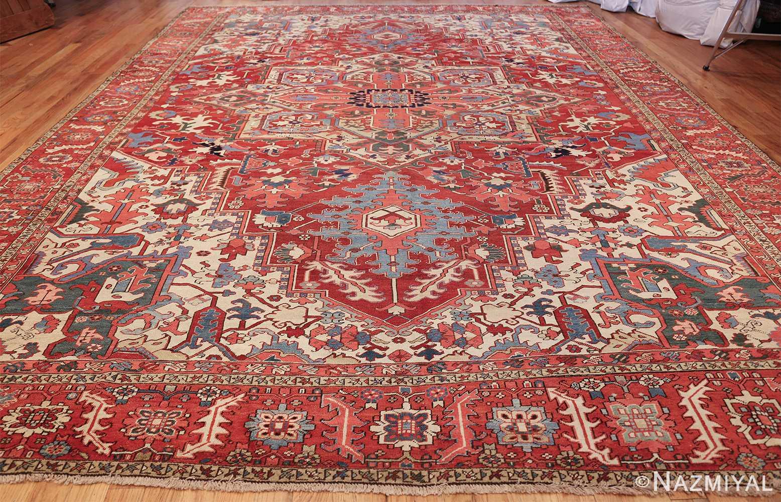 large antique heriz serapi persian rug 49518 whole Nazmiyal