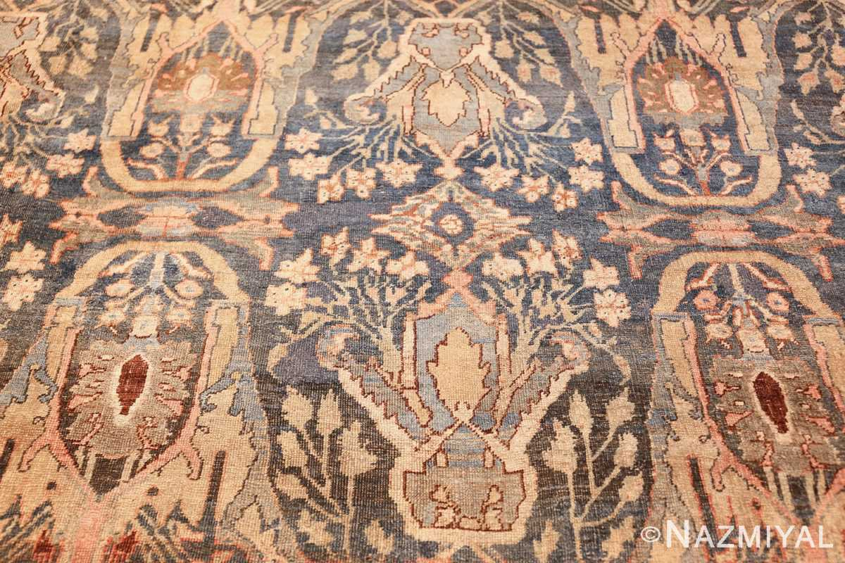 ge blue background antique bidjar persian rug 50217 blue Nazmiyal