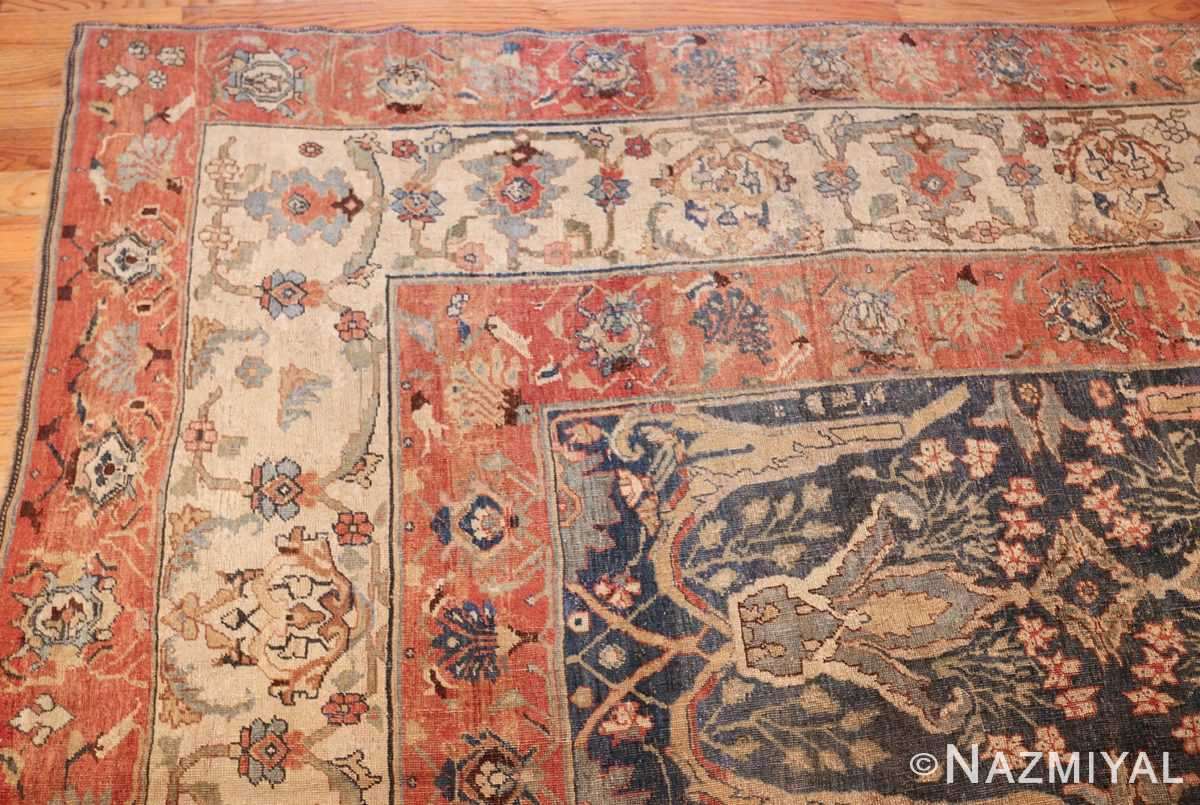 large blue background antique bidjar persian rug 50217 corner Nazmiyal