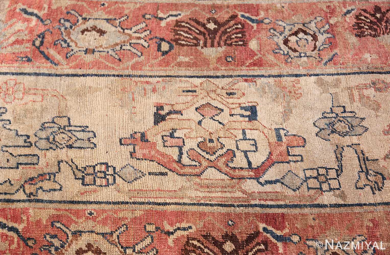 large blue background antique bidjar persian rug 50217 detail Nazmiyal