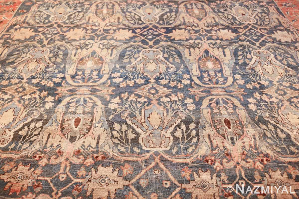 large blue background antique bidjar persian rug 50217 field Nazmiyal