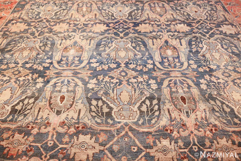 large blue background antique bidjar persian rug 50217 field Nazmiyal