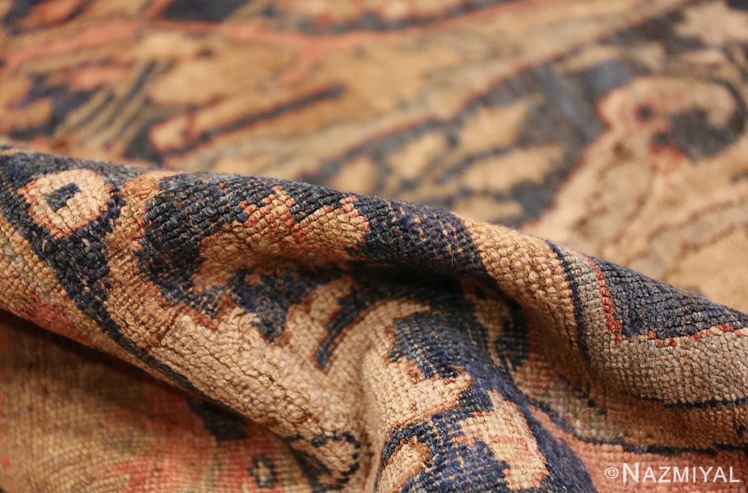 large blue background antique bidjar persian rug 50217 pile Nazmiyal