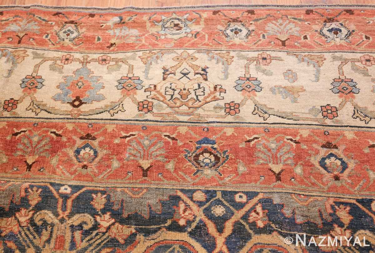 large blue background antique bidjar persian rug 50217 tiara Nazmiyal