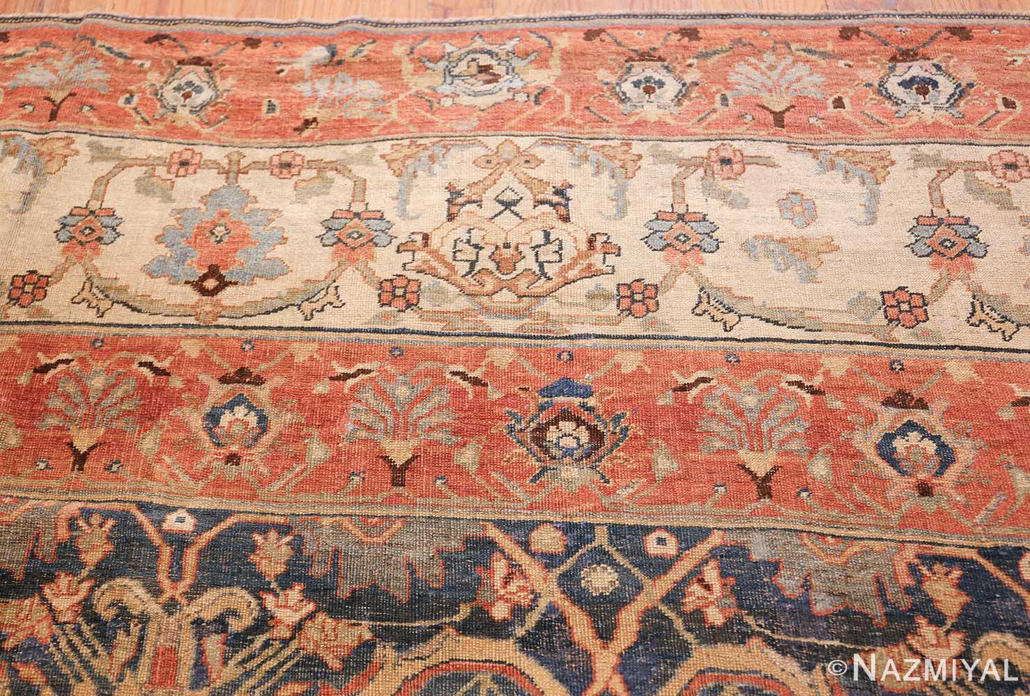 large blue background antique bidjar persian rug 50217 tiara Nazmiyal